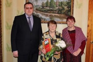 Поздравления принимала ветеран труда Наталья Ивановна Арсоба