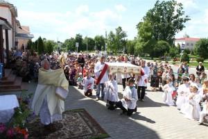 У нядзелю, 18 чэрвеня, у касцёле Узвышэння Святога Крыжа адбылася святочная ўрачыстасць