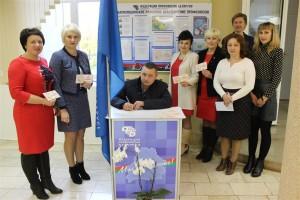 Шарковчане принимают участие в республиканской профсоюзной акции «Поздравим маму вместе!»