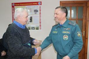 У Шаркаўшчынскім РАНС не забываюць ветэранаў пажарнай службы