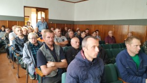 Спасатели выступили в трудовом коллективе Шарковщинского ПМС